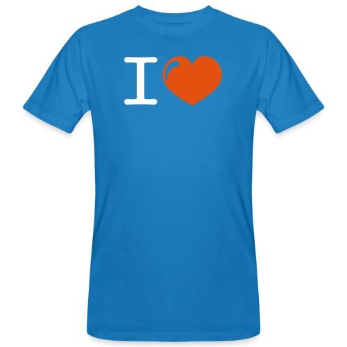 i love heart - Mannen Bio-T-shirt