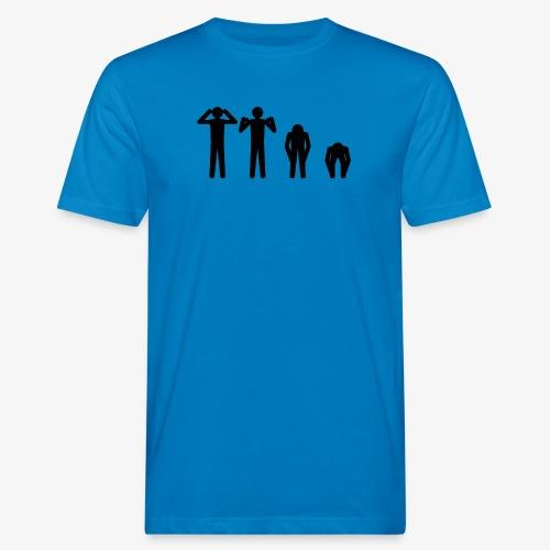 Hode, skulder, kne og tå - Økologisk T-skjorte for menn