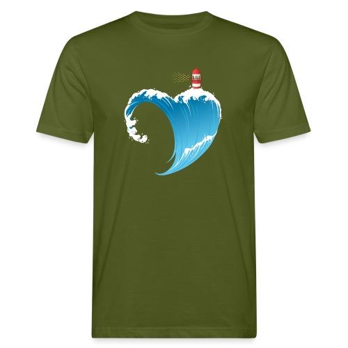 Ostseeherz - Männer Bio-T-Shirt