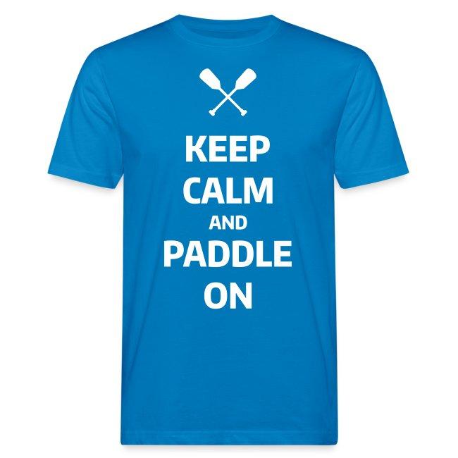 keep calm and paddle on Wassersport Kanu Kajak