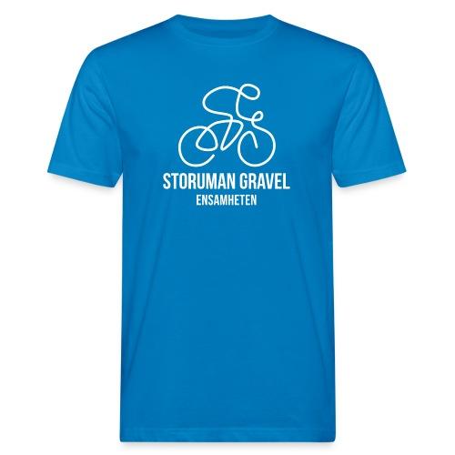 Storuman Gravel / Vit - Ekologisk T-shirt herr
