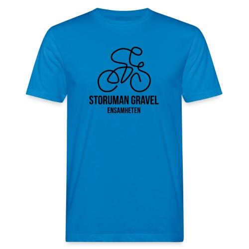 Storuman Gravel / Svart - Ekologisk T-shirt herr