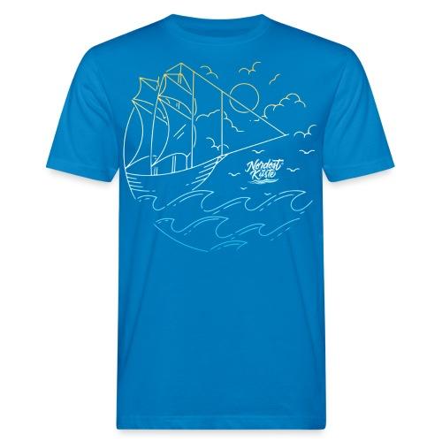 Schiff mit Sonne und Meer - Männer Bio-T-Shirt
