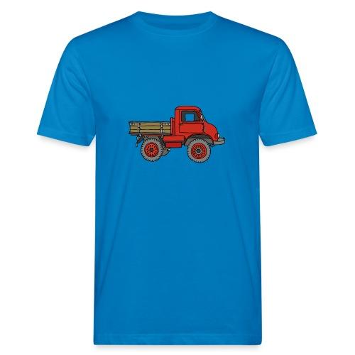 Roter Lastwagen, LKW, Laster - Männer Bio-T-Shirt