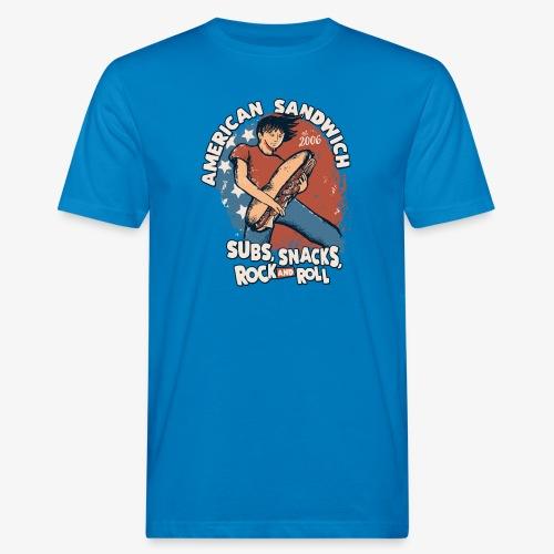 American Sandwich Rocker auf Farbe - Männer Bio-T-Shirt