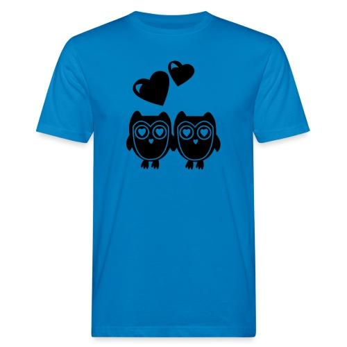 verliebte Eulen - Männer Bio-T-Shirt