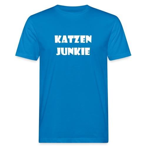 Katzen Junkie 2 - Männer Bio-T-Shirt