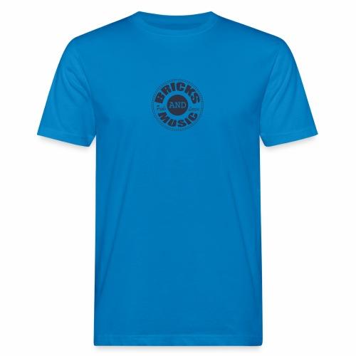 logo Bricks and Music BLUE - T-shirt ecologica da uomo
