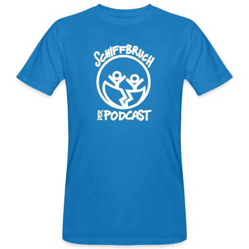 Schiffbruch - Der Podcast (weiß) - Männer Bio-T-Shirt