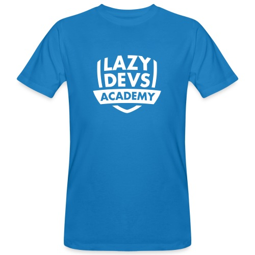 Lazy Dev's Academy logo - Men's Organic T-Shirt