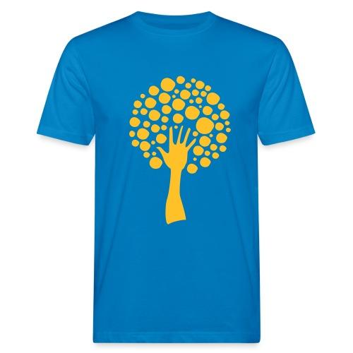 Logo-orange - Mannen Bio-T-shirt