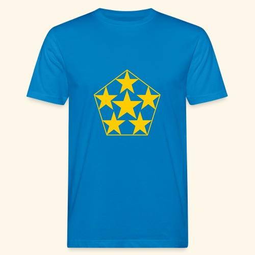 5 STAR gelb - Männer Bio-T-Shirt