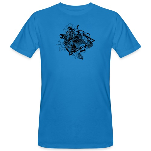 Abstract ink Doodle - T-shirt ecologica da uomo