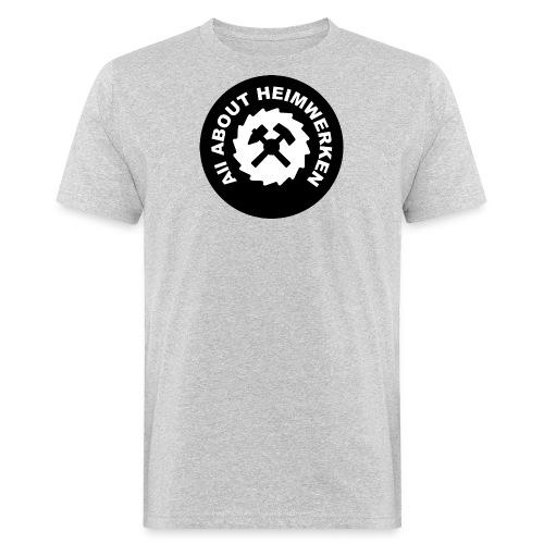 ALL ABOUT HEIMWERKEN - LOGO - Männer Bio-T-Shirt