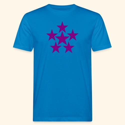 5 STAR lilla - Männer Bio-T-Shirt