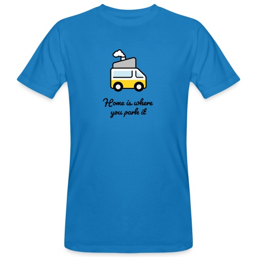 Home is where you park it - DUNKEL - Männer Bio-T-Shirt