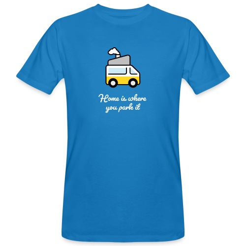 Home is where you park it - HELL - Männer Bio-T-Shirt