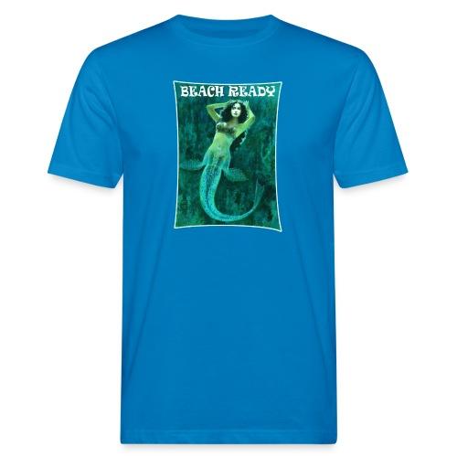 Vintage Pin-up Beach Ready Mermaid - Men's Organic T-Shirt
