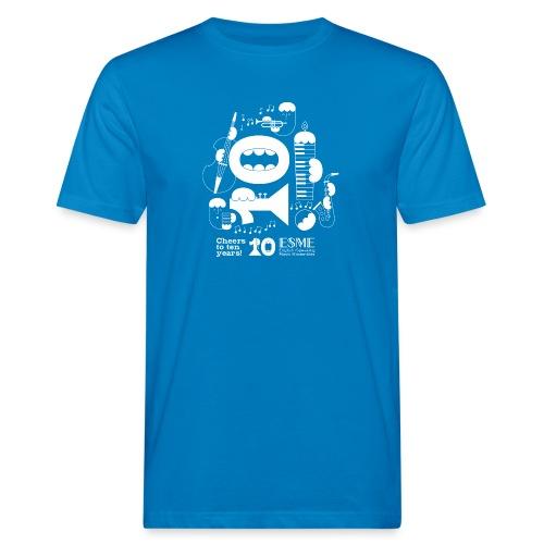 ESME Anniversary Design Weiss - Männer Bio-T-Shirt