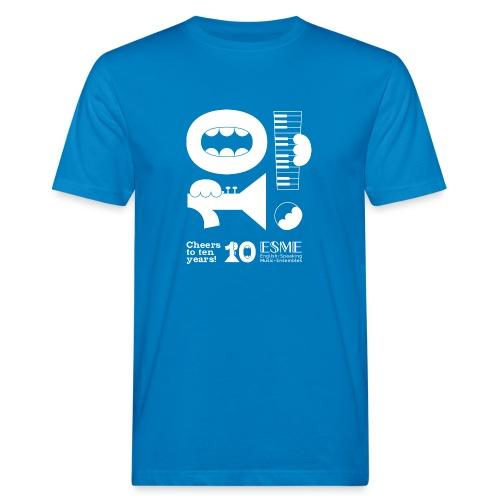 ESME Anniversary Simple Design Weiss - Männer Bio-T-Shirt