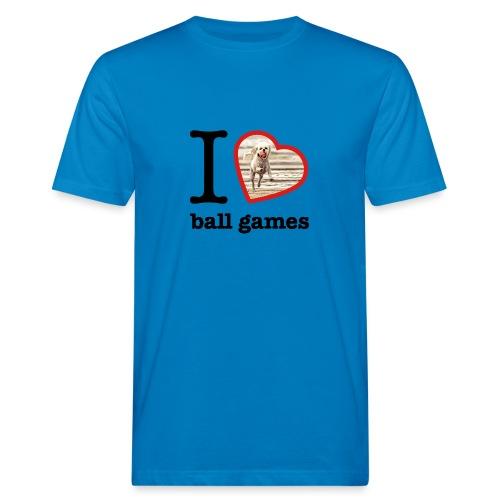 I love ball games Dog playing ball retrieving ball - Men's Organic T-Shirt