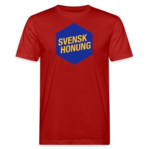Svensk honung Hexagon Blå/Gul - Ekologisk T-shirt herr