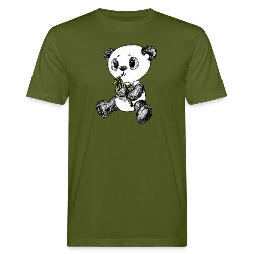 Panda Karhu värillinen scribblesirii - Miesten luonnonmukainen t-paita