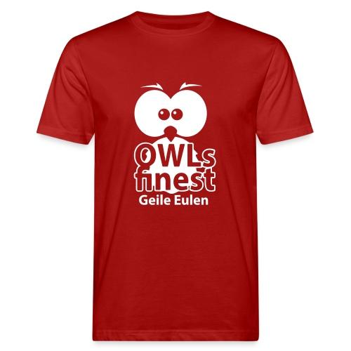 OWLs finest Geile Eulen - Männer Bio-T-Shirt