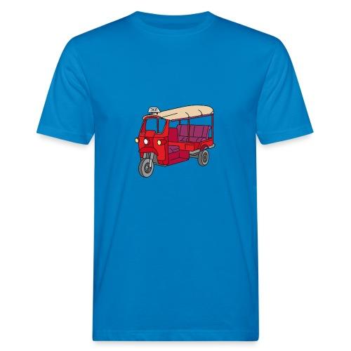 Rote Autorikscha, Tuk-tuk - Männer Bio-T-Shirt