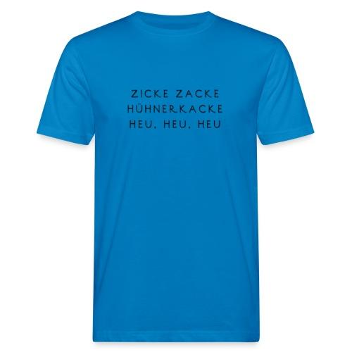 Fun Motiv Hühnerkacke - Männer Bio-T-Shirt