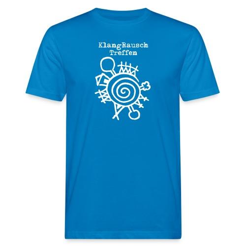 KlangRauschTreffen Logo mit Schrift - Männer Bio-T-Shirt