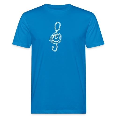 Violinschlüssel weiß - Männer Bio-T-Shirt