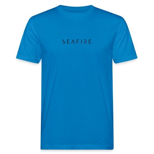 seafire logo BLACK - Mannen Bio-T-shirt