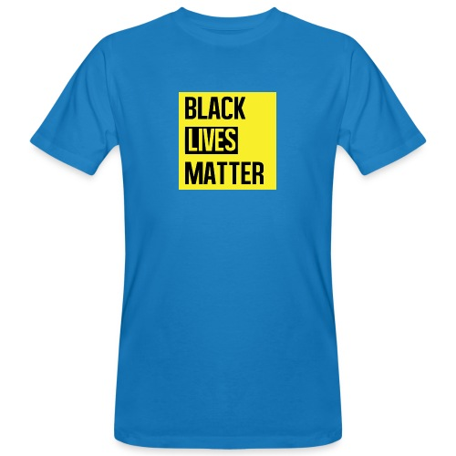 Black Lives Matter (yellow) - Mannen Bio-T-shirt