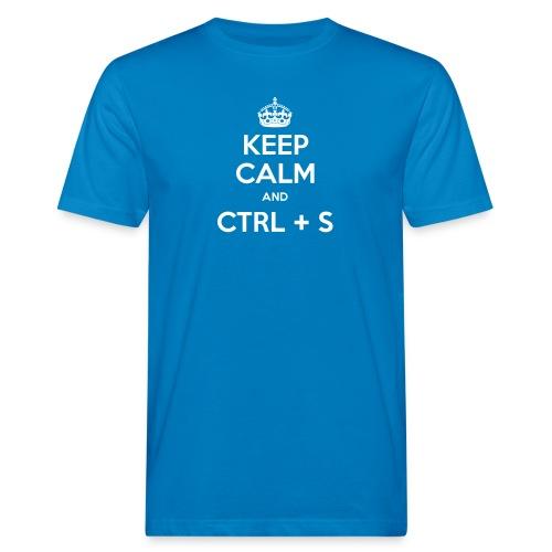 Keep Calm and CTRL+S - T-shirt bio Homme