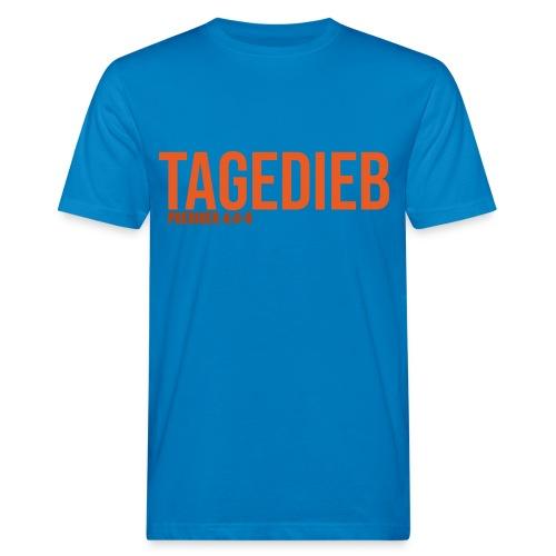 TAGEDIEB - Print in orange - Männer Bio-T-Shirt
