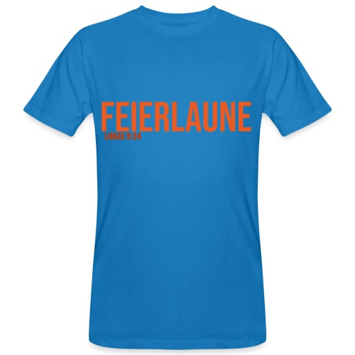 FEIERLAUNE - Print in orange - Männer Bio-T-Shirt