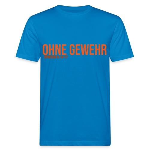 OHNE GEWEHR - Print in orange - Männer Bio-T-Shirt