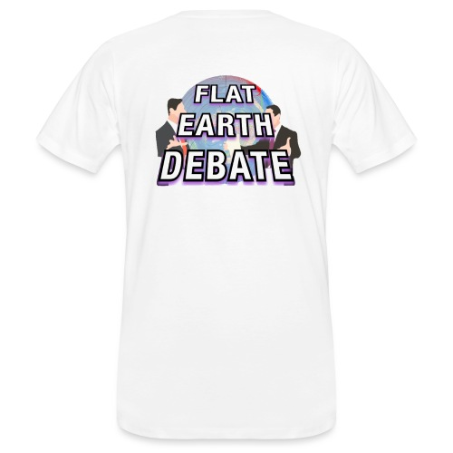 Flat Earth Debate Solid - Men's Organic T-Shirt
