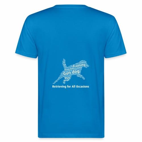 Retrieving for All Occasions wordcloud vitt - Ekologisk T-shirt herr