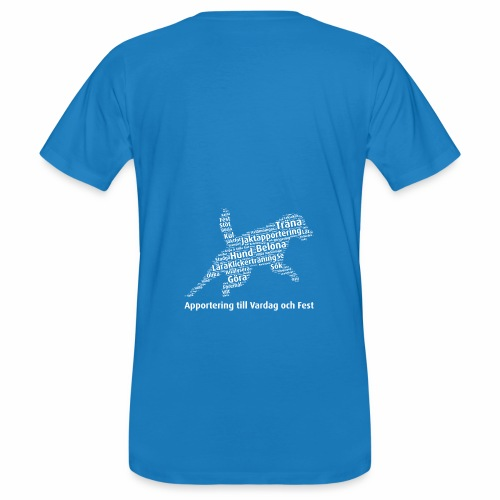 Apportering till vardag och fest wordcloud vitt - Ekologisk T-shirt herr