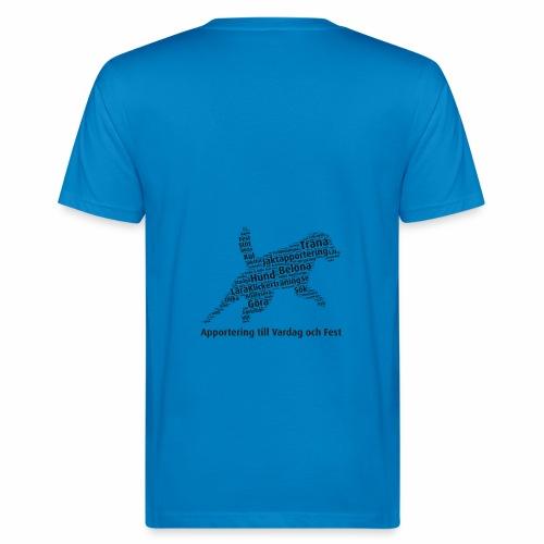Apportering till vardag och fest wordcloud svart - Ekologisk T-shirt herr