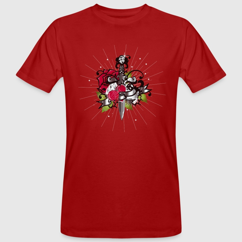 Heart's blood-The heart,the rose and the dagger - Camiseta ecológica hombre