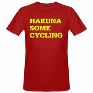 Hakuna some cycling - Männer Bio-T-Shirt