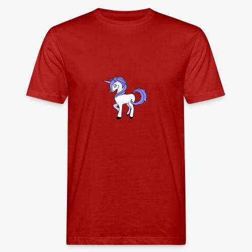 Lila Einhorn - Männer Bio-T-Shirt