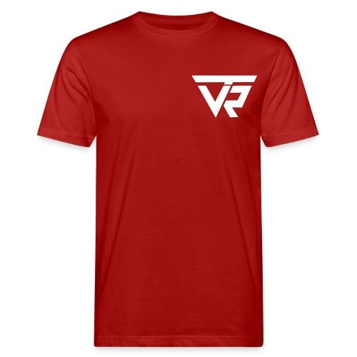 TVR Logo weiss - Männer Bio-T-Shirt