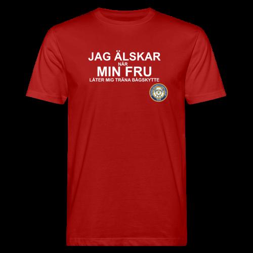 Jag Älskar Min Fru & Bågskytte - Ekologisk T-shirt herr