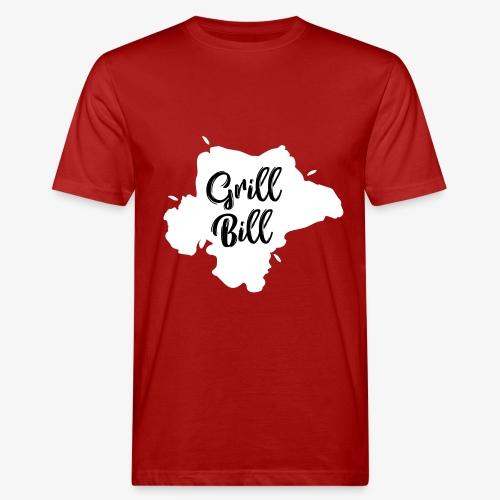 Design grill bill zwartwit - Mannen Bio-T-shirt