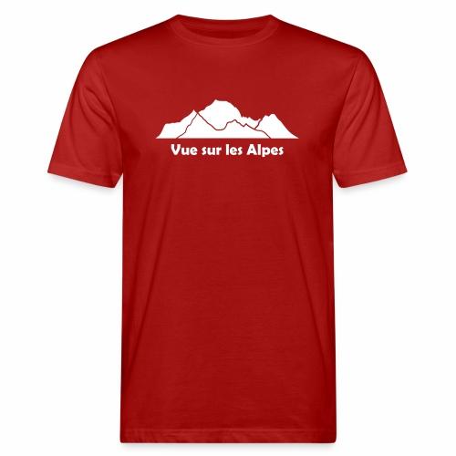 Vue sur les Alpes - T-shirt bio Homme