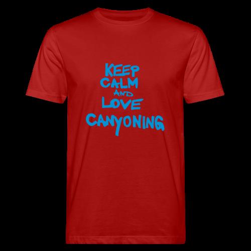 keep calm and love canyoning - Männer Bio-T-Shirt